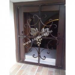 Kovácsoltvas exkluzív virágcsokros kétszárnyú kapu