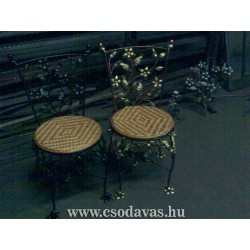 Virágos Fonott kovácsolt szék 0001.